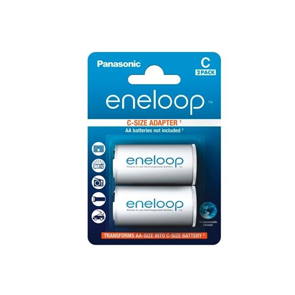 Panasonic Eneloop Adaptador de pilas AAAAA a C x2