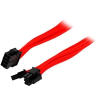 Phanteks 6+2-Pin PCIe alargo 50cm rojo - Cables