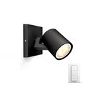Philips Runner Hue Foco Negro 1x5.5W - Iluminación
