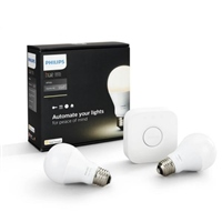 Philips Hue KIT 2x E27 A60 9.5W 2700K + Puente – Iluminacion