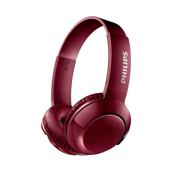 Philips BASS Bluetooth Rojo Diadema Micro  Auriculares