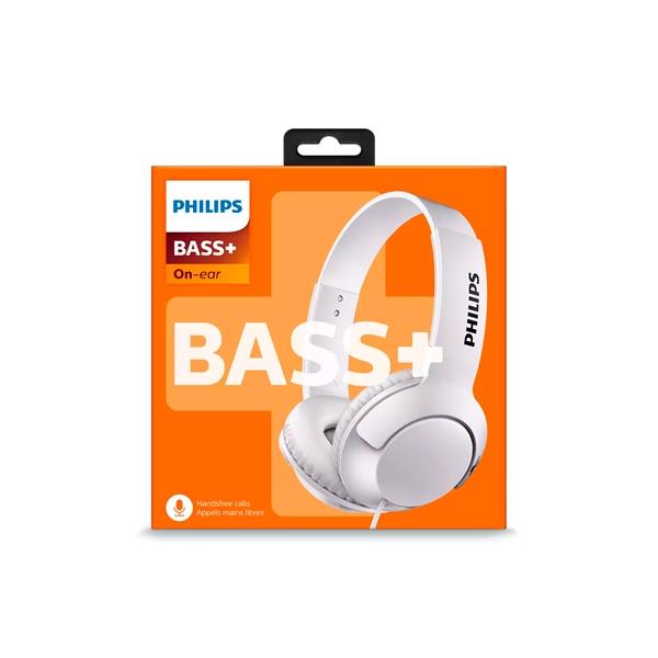 Philips BASS Bluetooth Blanco Diadema Micro  Auriculares