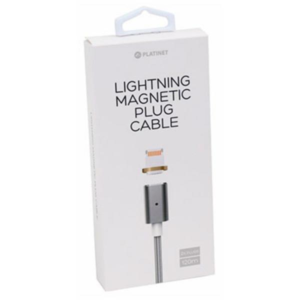 PLATINET Cable  Magnetico  MICRO USB-USB 1M Negro