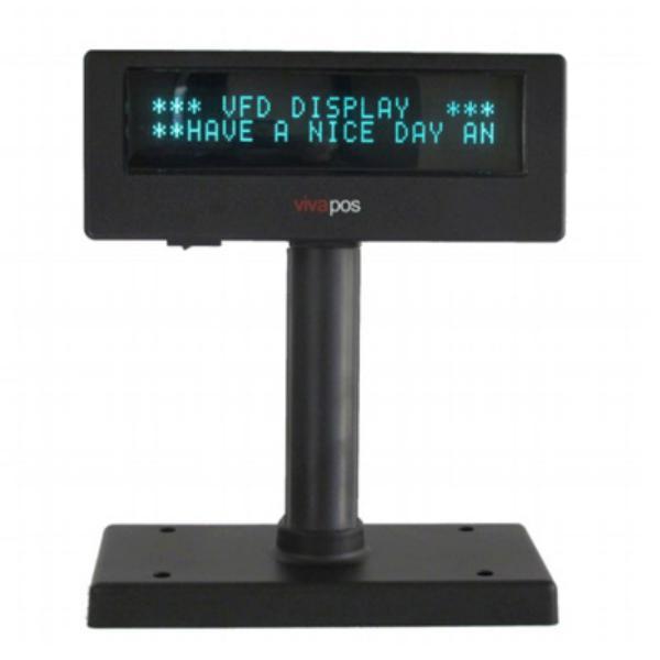 Posiberica Visor VFD 2X20 USB Negro – Visor