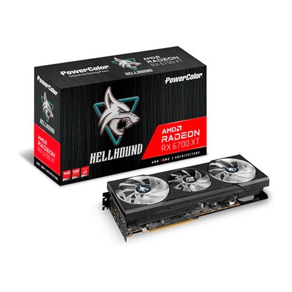 PowerColor Hell Hound Radeon RX6700 XT 12GB GDDR6 - Tarjeta Gráfica AMD