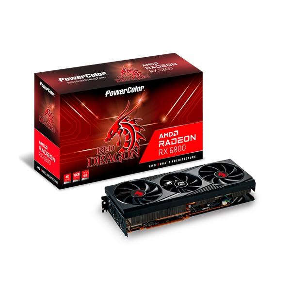 PowerColor Red Dragon Radeon RX6800 16GB GDDR6 Tarjeta Grfica AMD