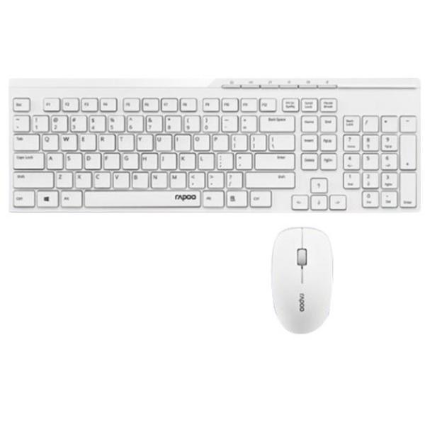 Rapoo X8100 blanco – Kit teclado y ratón