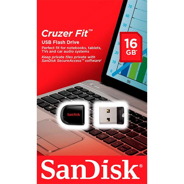 SanDisk Cruzer Fit 16GB  Pendrive