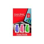 SanDisk Cruzer Blade 32GB Pack de 3 unidades  Pendrive