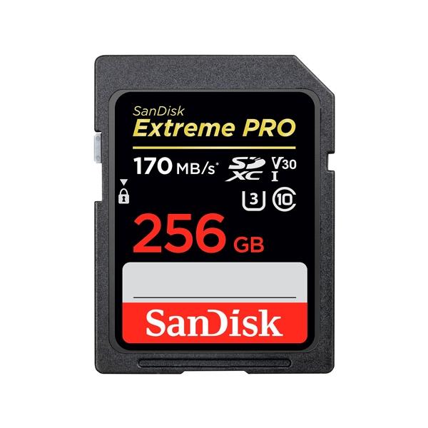 SanDisk Extreme Pro 256GB 170MBs  Tarjeta SD