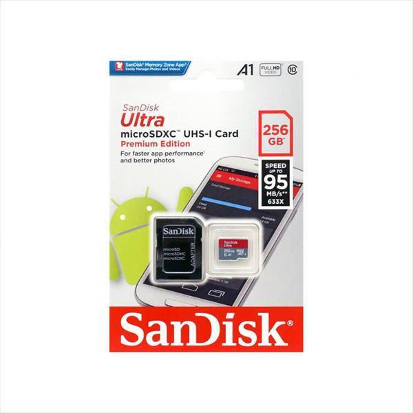 SanDisk Ultra 256GB 95MB/s c/adap – Tarjeta microSD