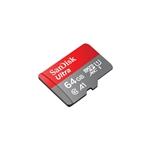 SanDisk Ultra 64GB 100MB/s c/adap - Tarjeta microSD