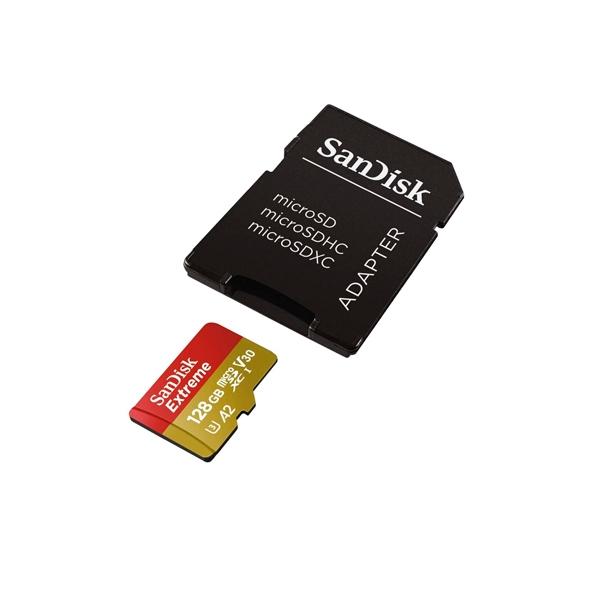 SanDisk Extreme 128GB 160MBs cadap  Tarjeta microSD