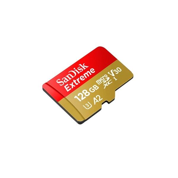 Sandisk Extreme MicroSD 128GB + adaptador + Rescue Pro Delx