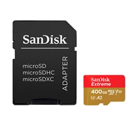SanDisk Extreme 400GB 160MB/s c/Adap + Soft - MicroSD