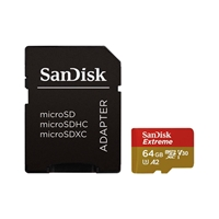 SanDisk Extreme 64GB 160MBs cadap  Tarjeta microSD