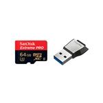 SanDisk Extreme Pro 64GB 275MB/s + USB3 - Tarjeta microSD
