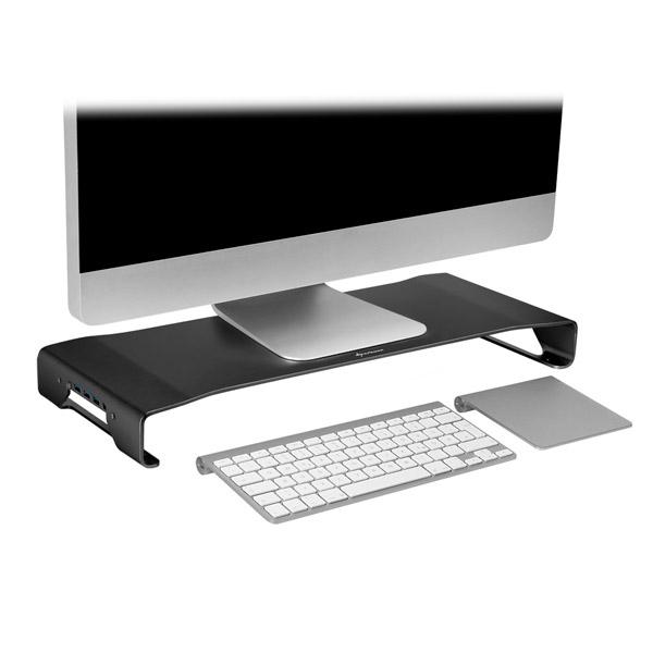 Sharkoon Aluminium Monitor Stand PRO Negro hub  Accesorio