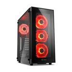 Sharkoon TG5 negro roja  Caja
