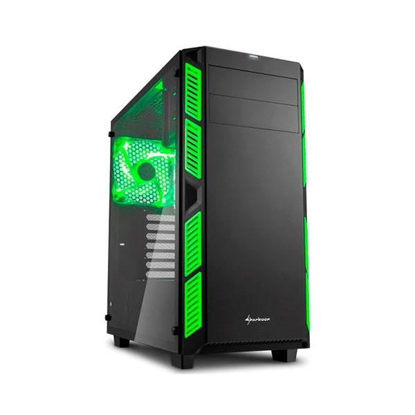 Sharkoon AI7000 negra verde – Caja