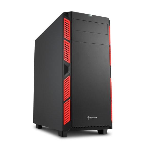 Sharkoon AI7000 silent negra / roja ATX - Caja
