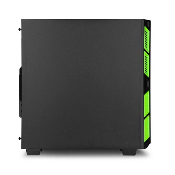 Sharkoon AI7000 silent negra  verde ATX  Caja