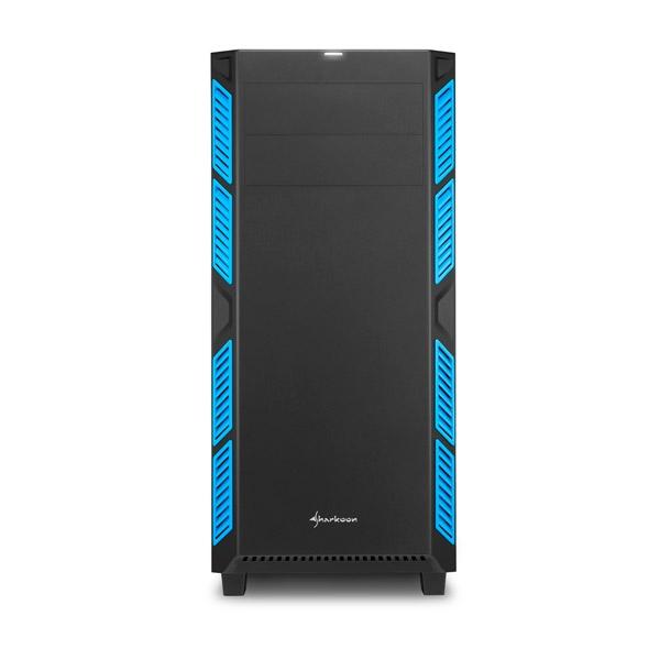 Sharkoon AI7000 silent negra / azul ATX – Caja
