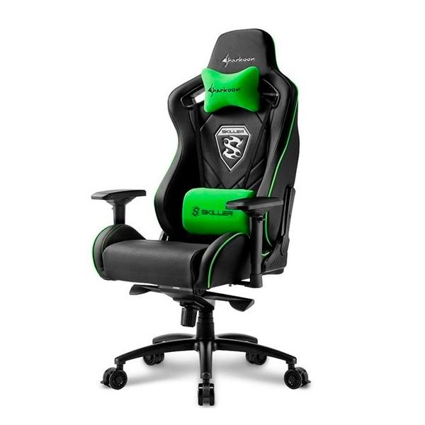 Sharkoon Skiller SGS4 negra verde - Silla