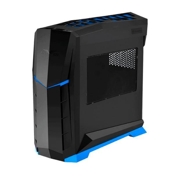 Silverstone Raven RVX01BA-W negra y azul con ventana – Caja