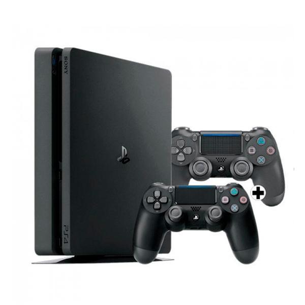 Sony PS4 Slim 1TB + 2 Mandos Dualshock - Consola