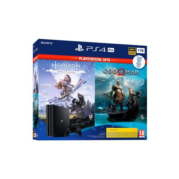 Sony PS4 Pro 1TB  God of war  Horizon Zero Dawn  Consola