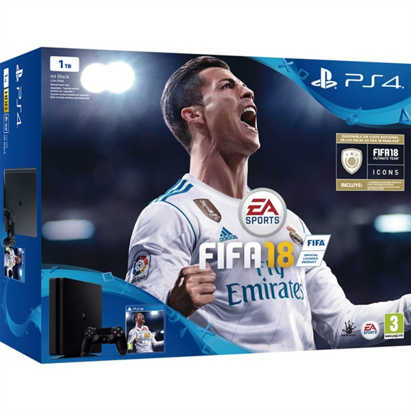 Sony PlayStation 4 Slim 1TB + FIFA 18 + 14 días de PS Plus