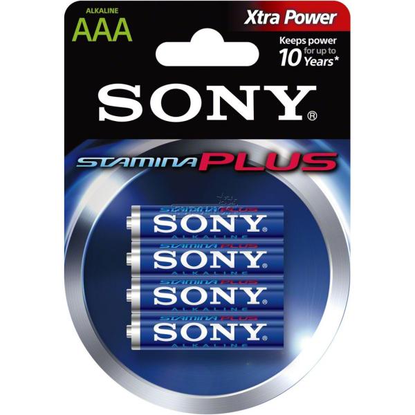 Sony Stamina Plus Alcalina 4xAAA  Pilas y baterías