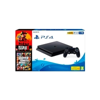 Sony Pack PS4 1TB Consola + RDR2 + GTA V Premium
