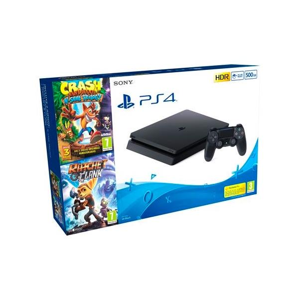 Sony PS4 Slim 500GB  Crash NSane Trilogy  Ratchet 038 Clank