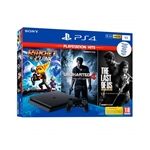 Sony PS4 1TB Slim + Playstation Hits (3 juegos) - Consola