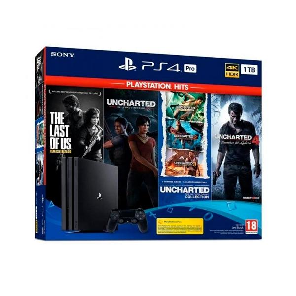 Sony Playstation 4 Pro 1TB  6 Juegos Hits  Consola
