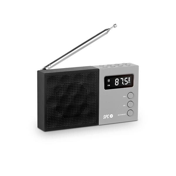 SPC Jetty Negra - Radio Despertador Portátil