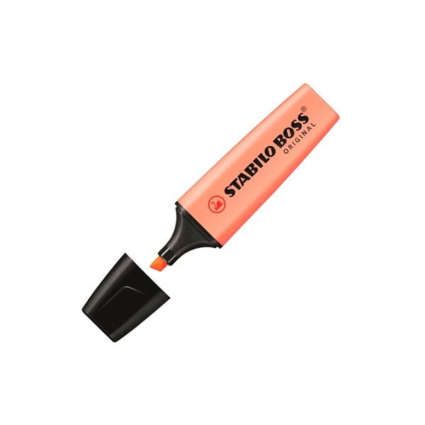 Marcador Fluorescente Stabilo Boss color Naranja Melocot