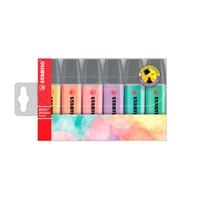 Stabilo Estuche 6 marcadores Fluorescentes colores Pastel