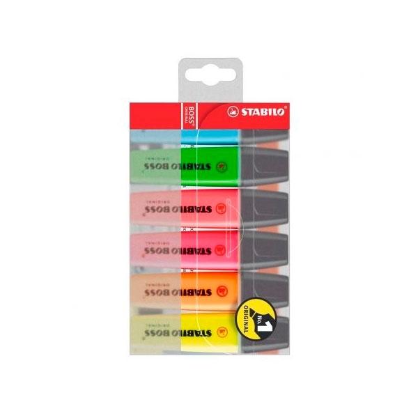 Stabilo Estuche 6 Marcadores Fluorescentes