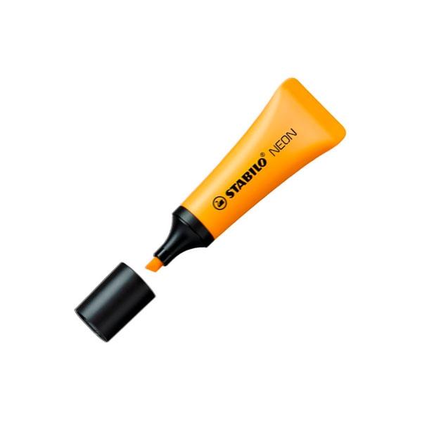 Marcador Fluorescente Stabilo Neon color Naranja