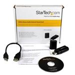 Startech Adaptador Sonido USB Externo  Tarjeta de Sonido