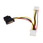 Adaptador de Cable de Alimentación SATA a LP4 con 2 LP4
