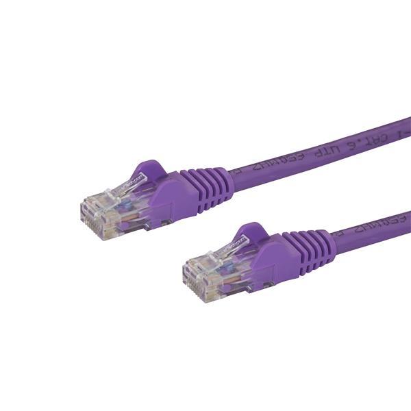 Startech latiguillo 5 M morado CAT6 UTP  Cable de red