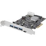 StarTech.com PCI-E USB 3.1 a X 3 USb C x1 - Adaptador