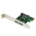 StarTech.com PCIE 2 x USB 3.0 UASP Power - Adaptador