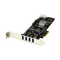 Startech PCIE 4 x USB 3.0 UASP con alimentación - Adaptador