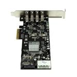 Startech PCIE 4 x USB 30 UASP con alimentación  Adaptador