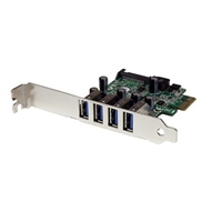 Startech PCI-E 4 USB 3.0 con UASP - Adaptador